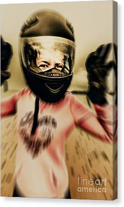 Unexpected Canvas Print - Motorbike Accident  by Jorgo Photography - Wall Art Gallery