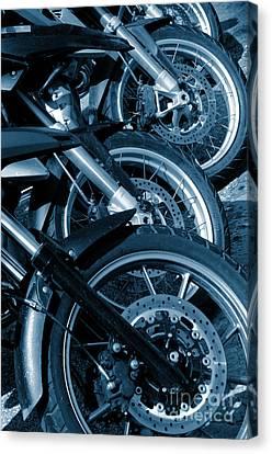 Motorbike Wheels Canvas Print by Carlos Caetano