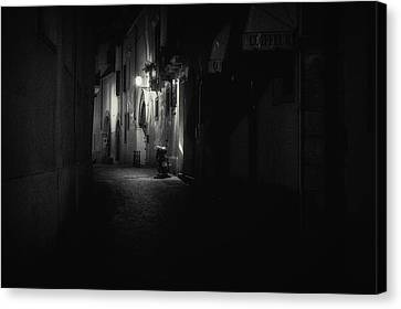 Motorcycle Emptiness Canvas Print by Chris Fletcher