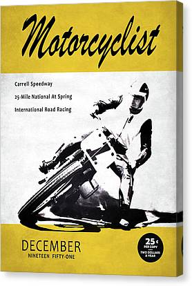 Motorcycle Magazine Carrell Speedway 1951 Canvas Print
