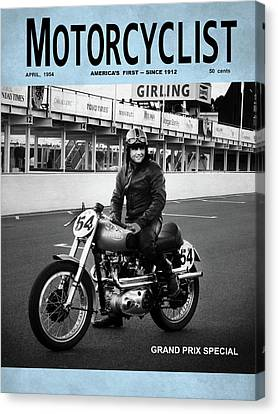 Motorcycle Magazine Grand Prix Special 1952 Canvas Print by Mark Rogan