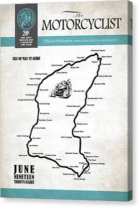 Motorcycle Magazine Isle Of Man Tt Guide 1938 Canvas Print