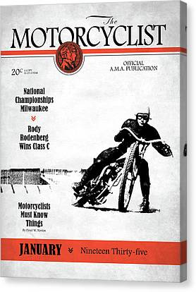 Motorcycle Magazine National Championship Milwaukee 1935 Canvas Print