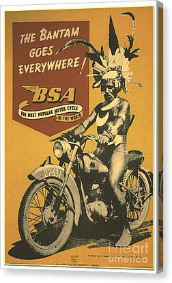 Motorcycle - Poster Canvas Print
