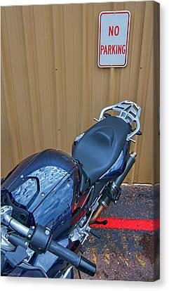 Canvas Print featuring the photograph Motorcycle Privilege by Britt Runyon