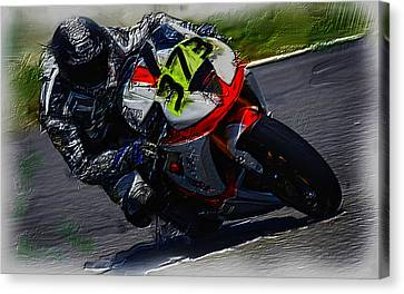 Motorcycle Racing 04a Canvas Print