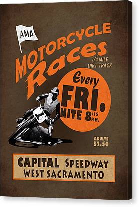 Motorcycle Speedway Races Canvas Print