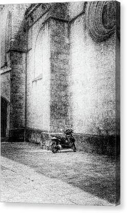 Motorcycles Also Like To Pray Canvas Print by Celso Bressan