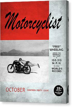 Motorcyclist Magazine - Rollie Free Canvas Print