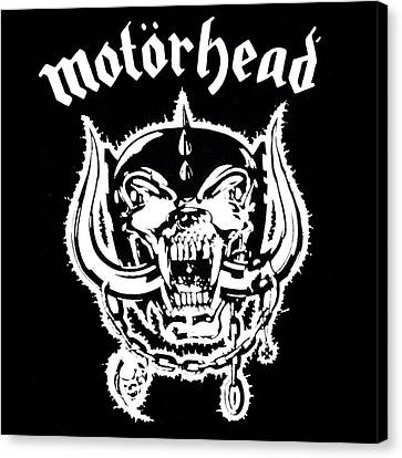 Canvas Print featuring the digital art Motorhead by Gina Dsgn