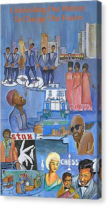 Motown Commemorative 50th Anniversary Canvas Print by Kenji Tanner