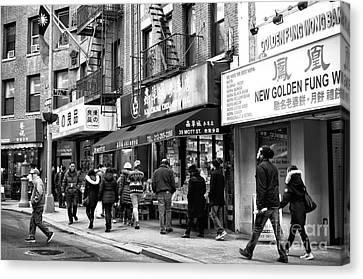 Mott Street Days Canvas Print by John Rizzuto
