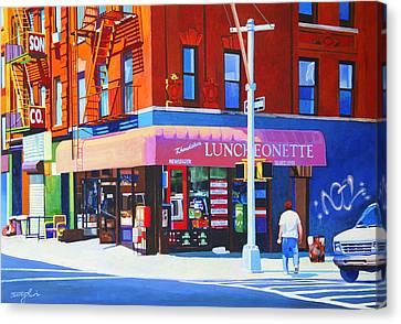 Mott Street Canvas Print by John Tartaglione