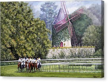 Moulin De Longchamp Canvas Print by Thomas Allen Pauly