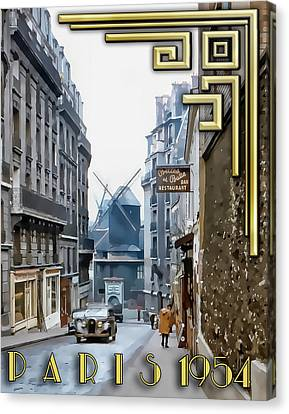Canvas Print featuring the photograph Moulin - Montmartre by Chuck Staley