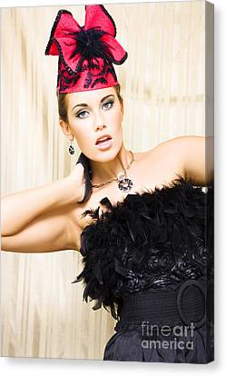Classy Fashion Stage Performer Canvas Print by Jorgo Photography - Wall Art Gallery