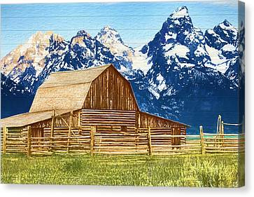 Moulton Barn Wood Panels Canvas Print