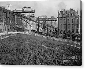 Mount Adams Inclined Railroad In Cincinnati 1905 Canvas Print