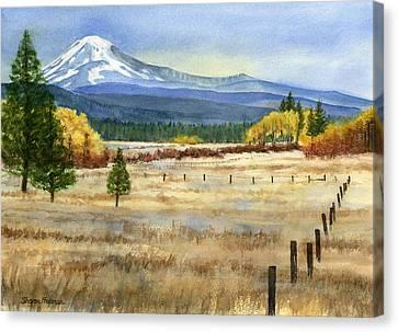 Fences Canvas Print - Mount Adams  by Sharon Freeman