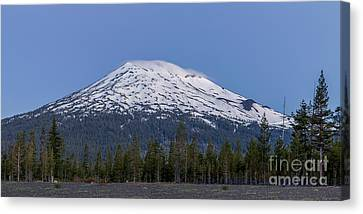 Mount Bachelor At Dawn Canvas Print by Twenty Two North Photography