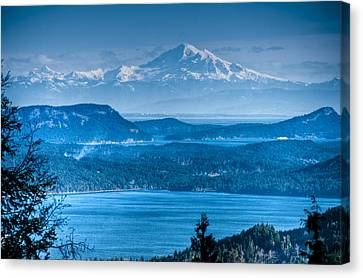 Mount Baker And The Gulf Islands Canvas Print by R J Ruppenthal