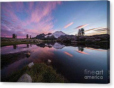 Mount Baker Dawns Colors Clarity Canvas Print by Mike Reid