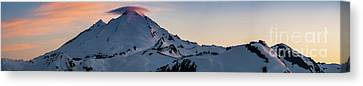 Mount Baker Dusk Panorama Canvas Print by Mike Reid