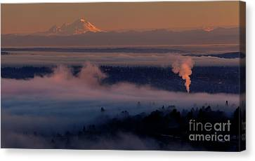 Mount Baker In The Distance Canvas Print