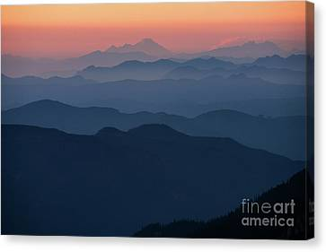 Mount Baker Sunset Landscape Layers Closer Canvas Print by Mike Reid