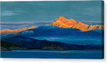 Wa Canvas Print - Mount Baker Sunset by Marie-Claire Dole