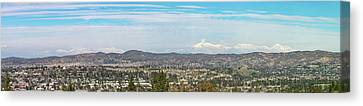 Mount Baldy And Mountain High Canvas Print by Angela A Stanton