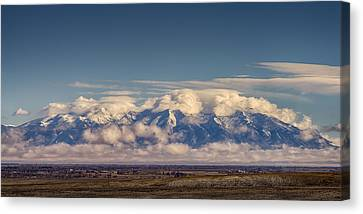 Mount Blanca With Skirt And Hat Canvas Print by John Brink