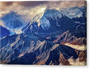 Mount Brooks From Above Canvas Print by Rick Berk