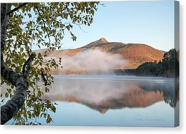 Mount Chocorua In Fog 0398 Canvas Print by Dan Beauvais