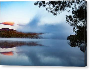 Canvas Print featuring the photograph Mount Chocorua Peeks Above The Fog by Jeff Folger