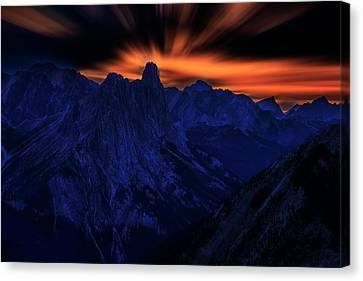 Canvas Print featuring the photograph Mount Doom by John Poon