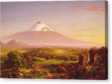 Mount Etna Canvas Print by Thomas Cole