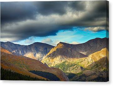 Mount Evans Foreboding Skies Canvas Print by Angelina Vick