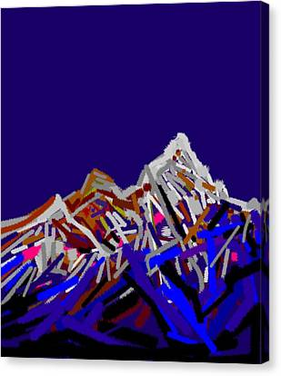 Mount Everest Canvas Print by Anand Swaroop Manchiraju