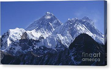 Canvas Print featuring the photograph Mount Everest Nepal by Rudi Prott