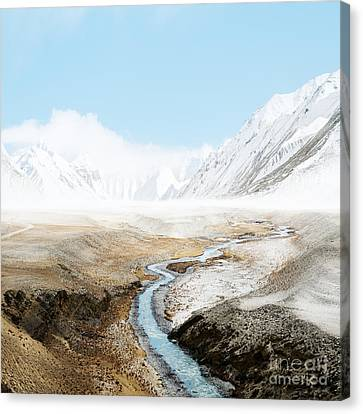 Canvas Print featuring the photograph Mount Everest  by Setsiri Silapasuwanchai