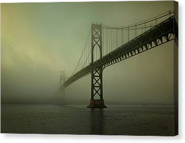 Mount Hope Bridge Canvas Print by Dave Gordon