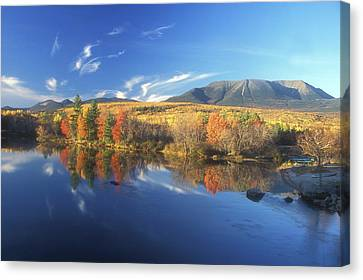 Mount Katahdin From Abol Bridge Canvas Print by John Burk