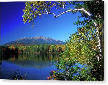 Mount Katahdin From Touge Pond Canvas Print