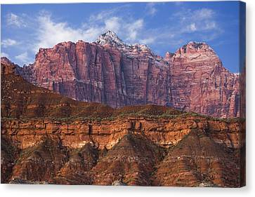 Mount Kinesava In Zion National Park Canvas Print