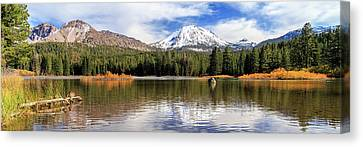 Canvas Print featuring the photograph Mount Lassen Autumn Panorama by James Eddy