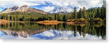 Mount Lassen Reflections Panorama Canvas Print