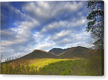 Mount Leconte In Great Smoky Mountains National Park Tennessee Canvas Print by Brendan Reals