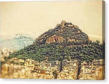 Mount Lycabettus Canvas Print by HD Connelly