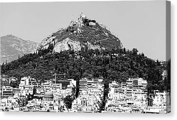 Mount Lykavittos Canvas Print by John Rizzuto